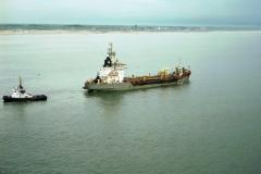 Egmond aan Zee strand suppletie Hopperzuiger Cornelia met slbt Rekum 1997 lfh 97052057-028