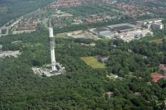 Hilversum media complex TV en Radio studios met communicatie toren 1997 lfh 97071048-054
