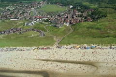Wijk aan Zee strand strand drukte recreatie 1997 lfh 97080616-062