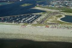 IJmuiden strand drukte Recreatie Toerisme 1997 lfh 97080656-065