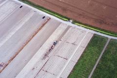 Flevopolders Oogsten landbouw agrarische aktiviteit 1997 lfh 97081224-072