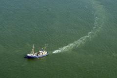 IJmuiden noordzee Visserij Wr 27 vissend voor de kust 1997 lfh 97081964-089