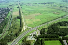 Beverwijk Broekpolder gebied oude A9 nog niet verwijderd 1998 lfh 98080651